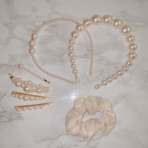 Pearl headband and clips